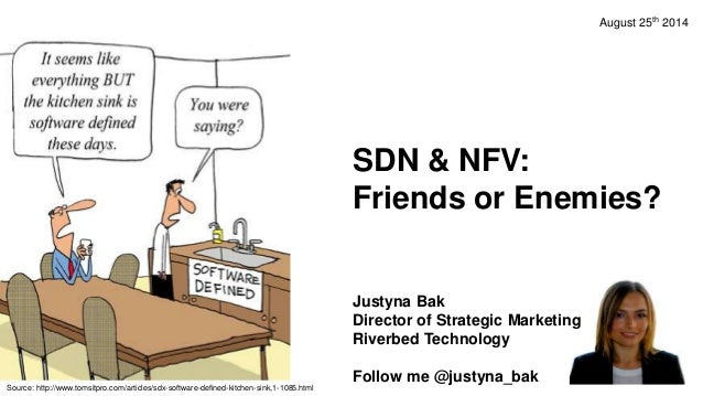 SDN & NFV: Friends or Enemies? Justyna Bak Director of Strategic Marketing Riverbed Technology Follow me @justyna_bak Sour...