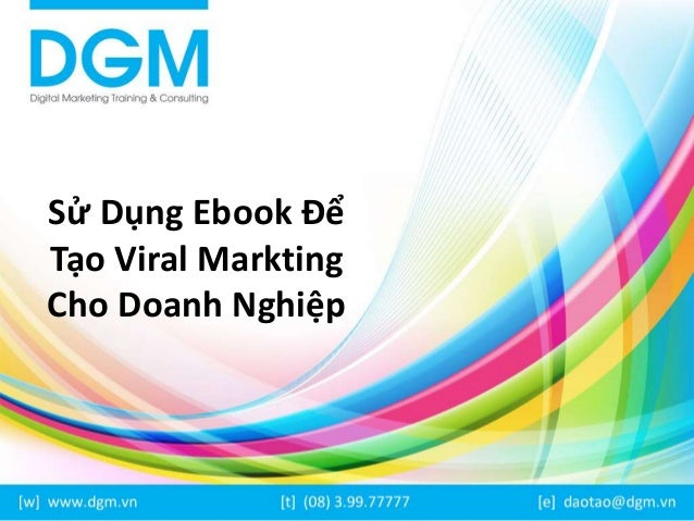 Sử Dụng Ebook Để  Tạo Viral Markting  Cho Doanh Nghiệp