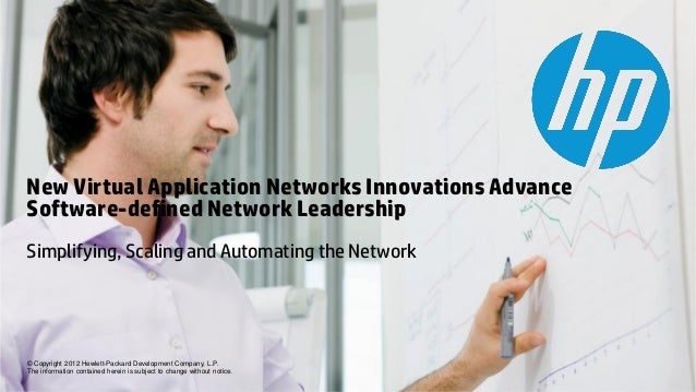 New Virtual Application Networks Innovations AdvanceSoftware-defined Network LeadershipSimplifying, Scaling and Automating...