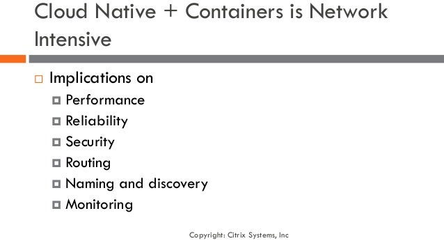 load balancing for containers and cloud native architecture