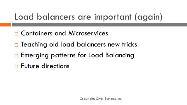 Load Balancing for Containers and Cloud Native Architecture Slide 3