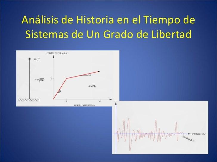 Análisis de Historia en el Tiempo de Sistemas de Un Grado de Libertad