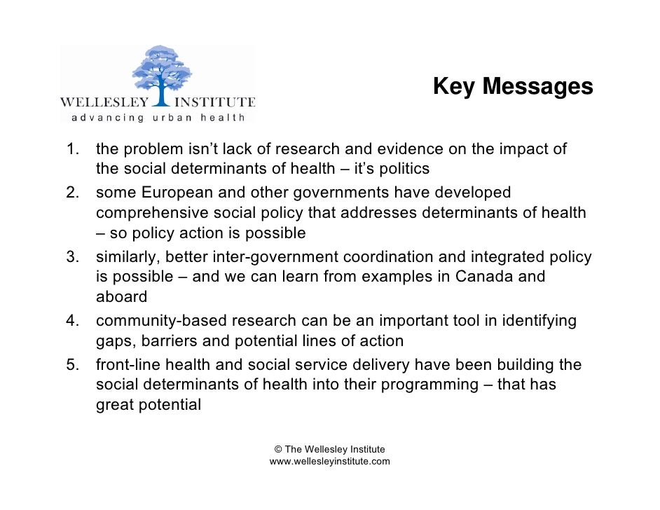 social determinants of health and healthy public policy