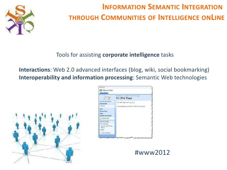 INFORMATION SEMANTIC INTEGRATION                   THROUGH COMMUNITIES OF INTELLIGENCE ONLINE              Tools for assis...