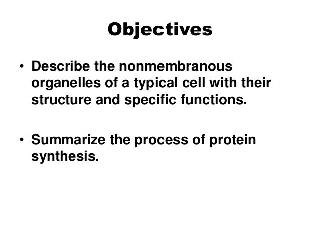 name the cell organelle which is non membranous