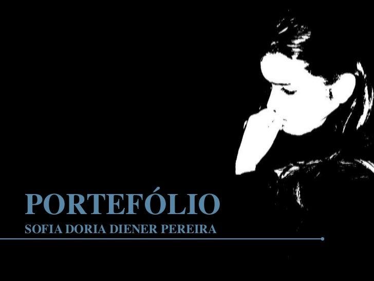 PORTEFÓLIOSOFIA DORIA DIENER PEREIRA
