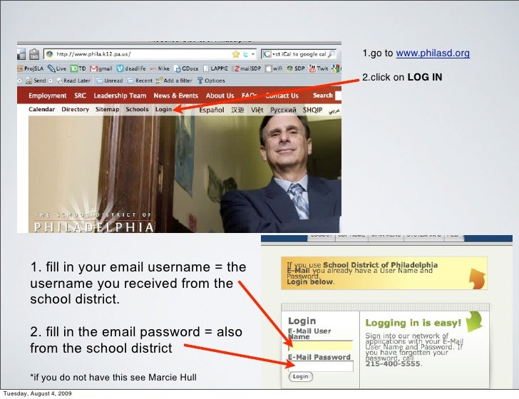 1.go to www.philasd.org                                                     2.click on LOG IN             1. fill in your ...