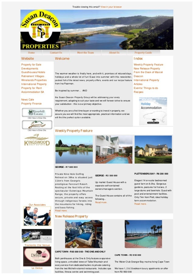 Trouble viewing this email? View in your browser                Our Associates   Tramonto the Venue Le De...