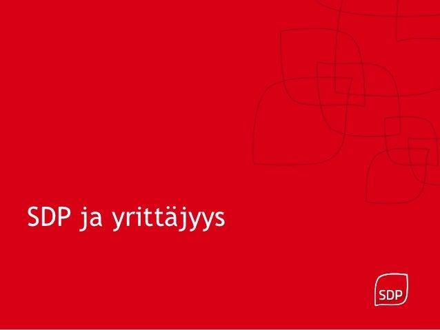 SDP ja yrittäjyys