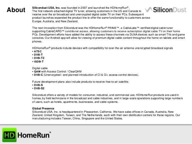Silicondust Powerpoint 2014 Slide 2