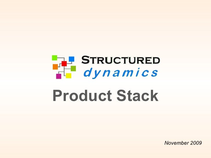 May (updated) 2010 Product Stack