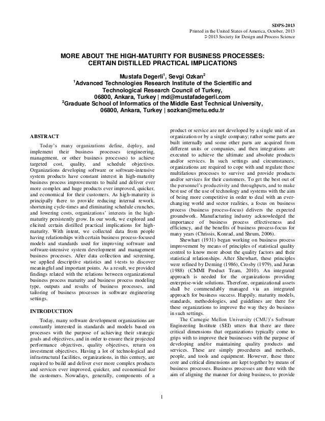 SDPS-2013  Printed in the United States of America, October, 2013  2013 Society for Design and Process Science  1  MORE AB...
