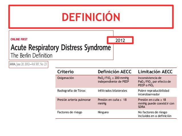 Síndrome de dificultad respiratoria aguda - Revisión