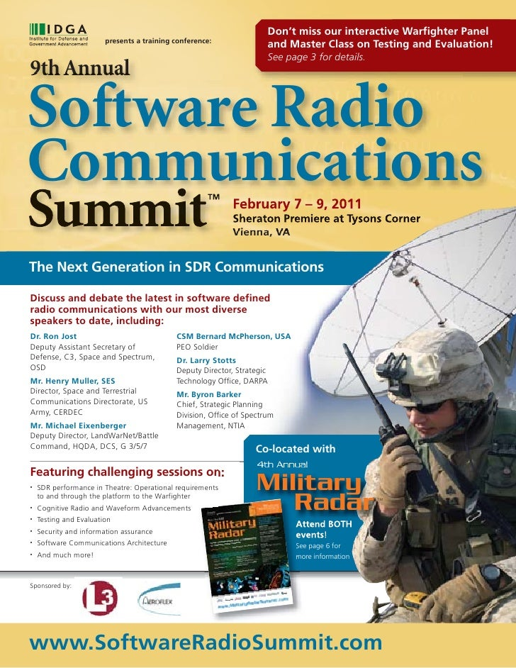 Don't miss our interactive Warfighter Panel                        presents a training conference:                        ...