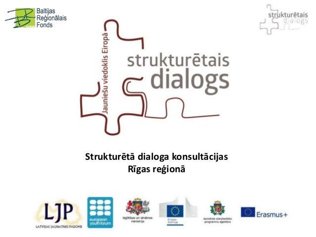 Strukturētā dialoga konsultācijas Rīgas reģionā