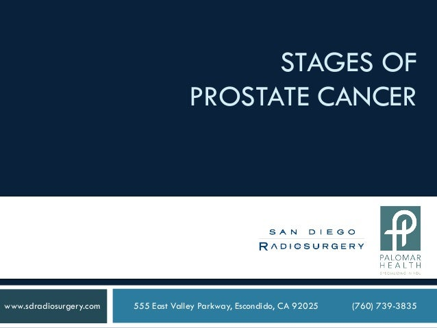 STAGES OFPROSTATE CANCER555 East Valley Parkway, Escondido, CA 92025 (760) 739-3835www.sdradiosurgery.com