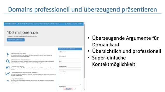 Domains professionell und überzeugend präsentieren • Überzeugende Argumente für Domainkauf • Übersichtlich und professione...