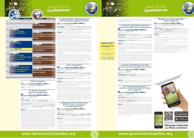 Salon Des Solidarités 2014 Guide Visiteur Slide 3