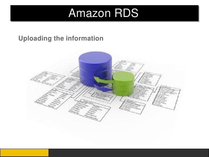 Amazon RDSUploading the information