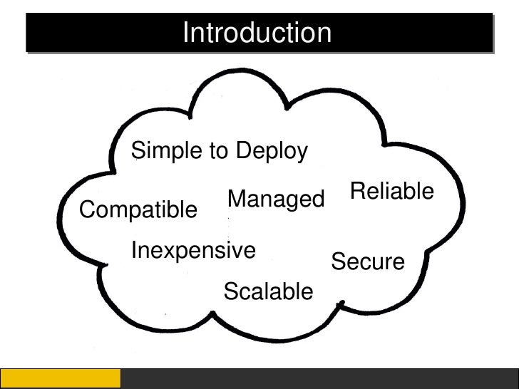 Introduction    Simple to Deploy             Managed     ReliableCompatible    Inexpensive         Secure             Scal...