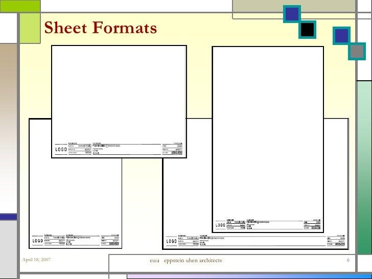 Architecture Design Sheet Format ca : supplemental dwgs