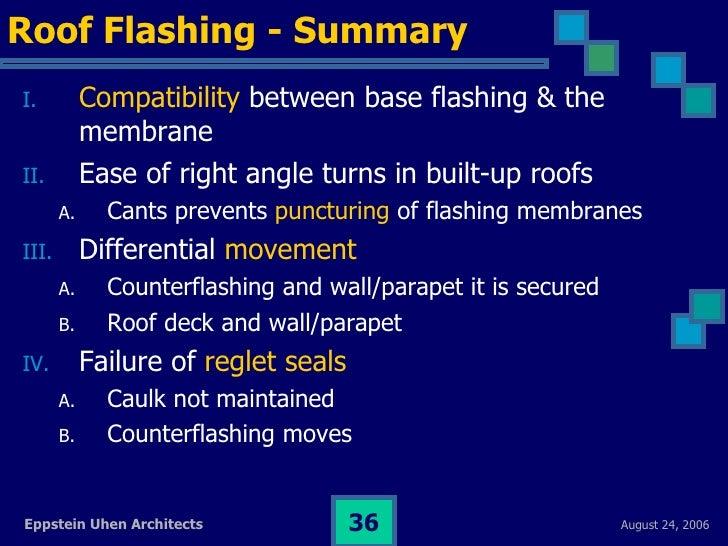 Water Mgmt Flashing