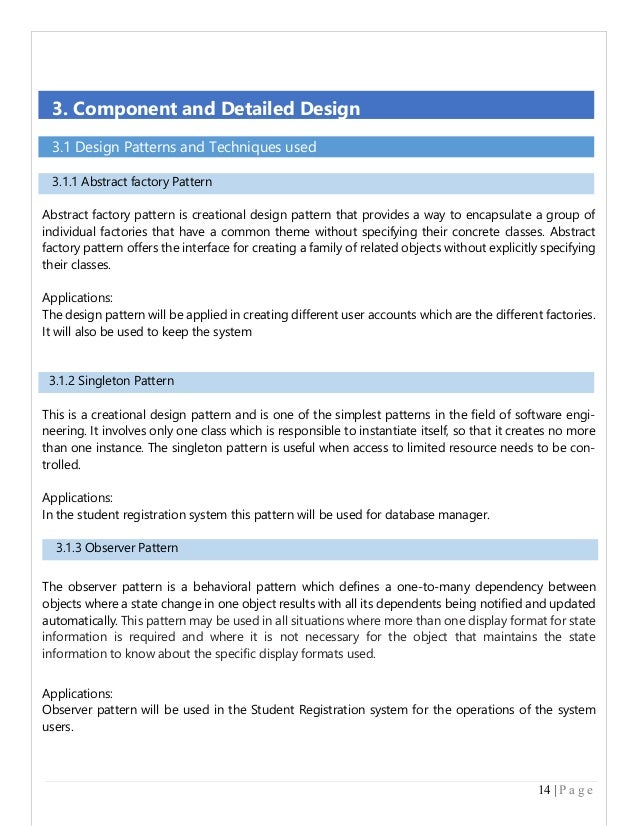 Example For SDS Document In Software Engineering - Creating a design document
