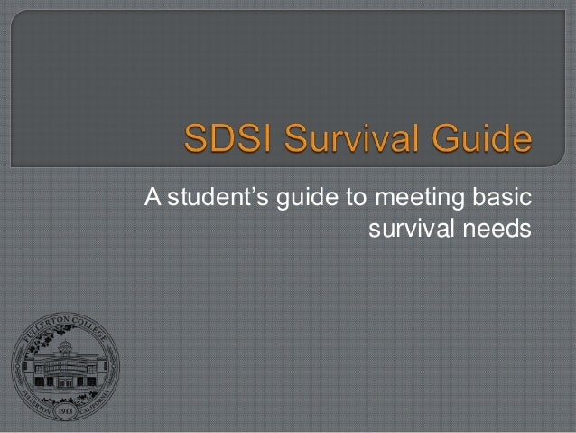 A student's guide to meeting basic                    survival needs