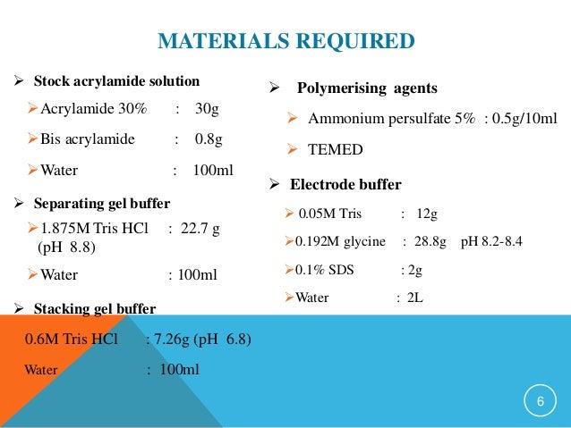 how to prepare 10 acrylamide gel
