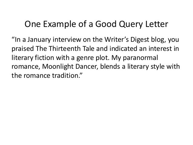 Breaking into the nonfiction market step by step query letters 41 one example of a good spiritdancerdesigns Choice Image