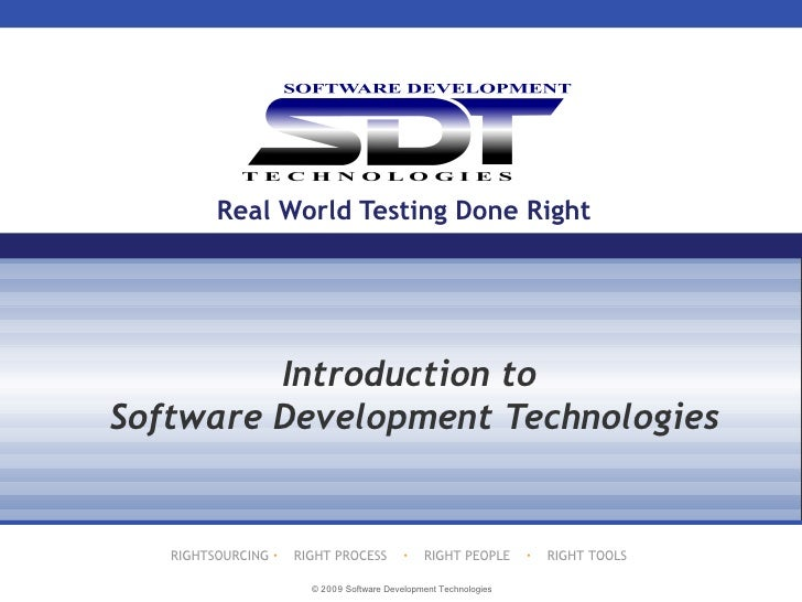 Real World Testing Done Right Introduction to Software Development Technologies