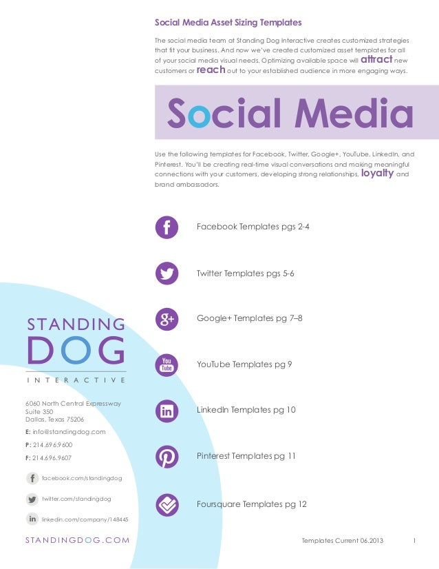 Social Media Channel Templates