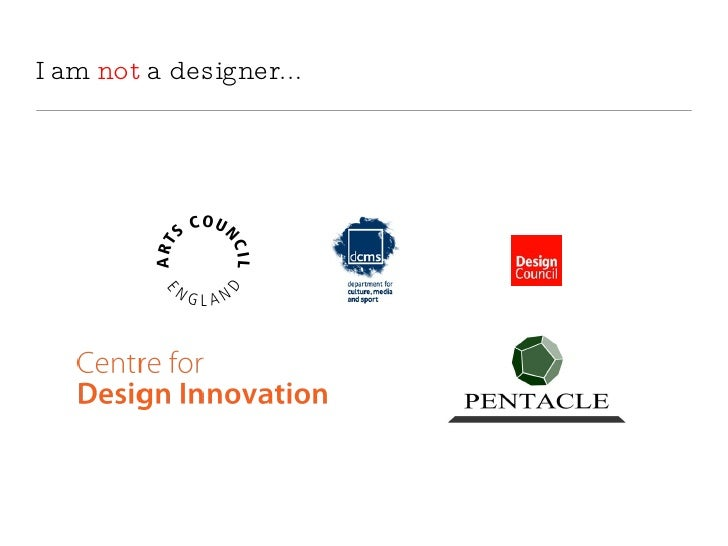 I am not a designer...