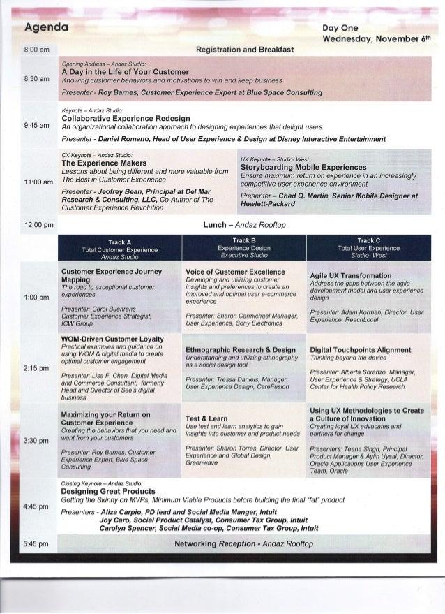 """Keynote Speaker, """"Total Customer & User Experience Summit,"""" San Diego Slide 2"""