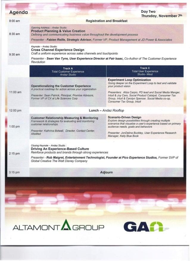"""Keynote Speaker, """"Total Customer & User Experience Summit,"""" San Diego Slide 3"""