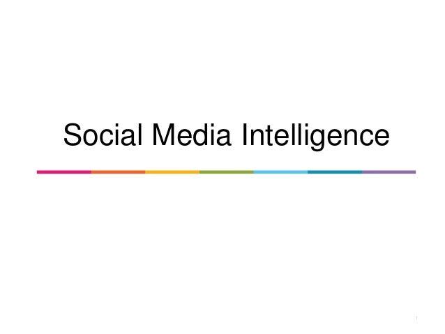 1 Social Media Intelligence