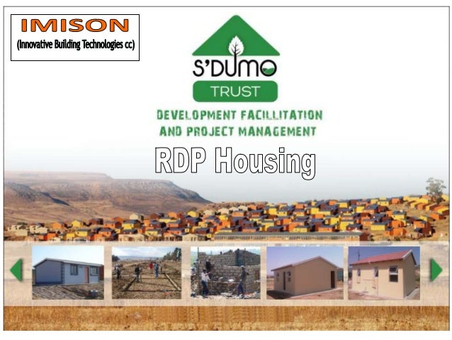 In association withInnovative BuildingTechnologies40m2 RDP Building Units