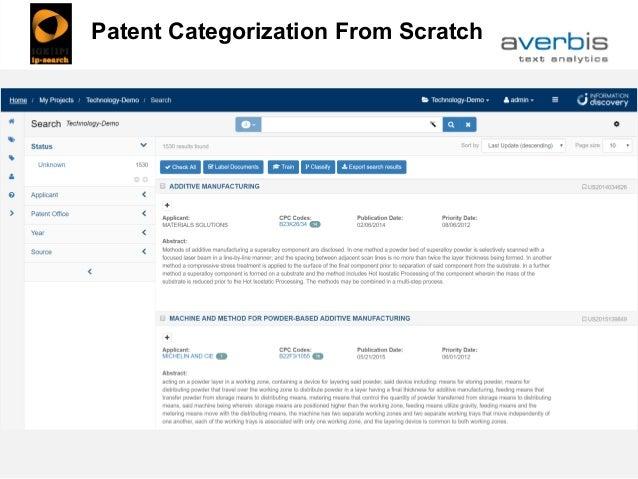Patent Classification Patent Categorization From Scratch