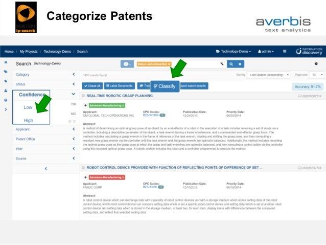 Categorize Patents