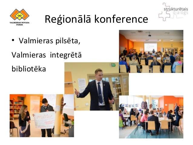 Reģionālā konference • Valmieras pilsēta, Valmieras integrētā bibliotēka