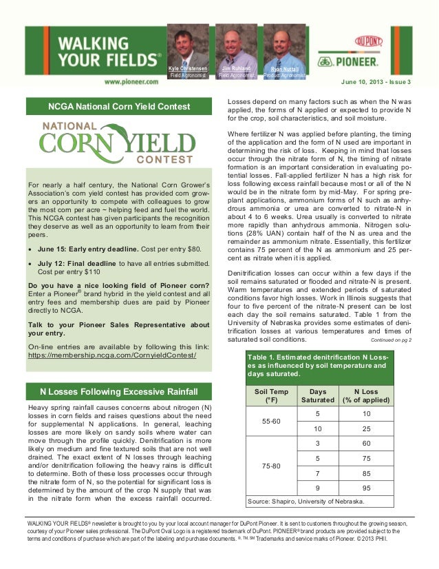 Heavy spring rainfall causes concerns about nitrogen (N) losses in corn fields and raises questions about the need for sup...