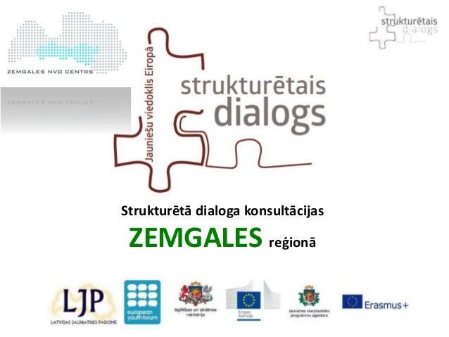 Strukturētā dialoga konsultācijas ZEMGALES reģionā