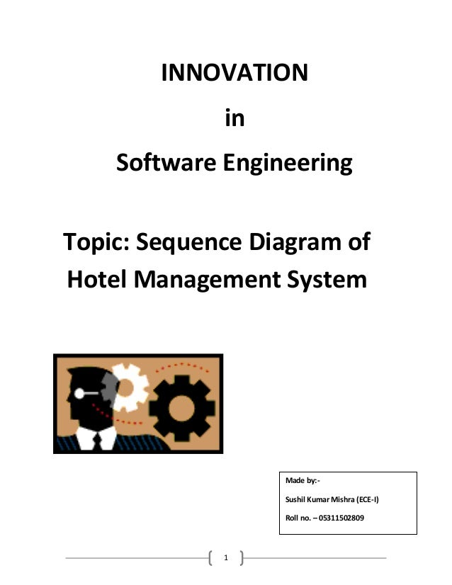 Sequence diagram of hotel management system innovation in software engineeringtopic sequence diagram ofhotel management system ccuart