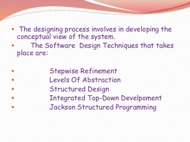 Designing Techniques In Software Engineering