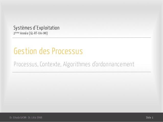Systèmes dexploitation chp2 gestion des processus