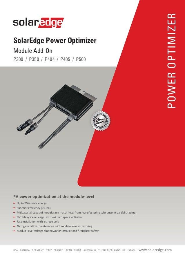 Solar Edge Residential Power Optimiser