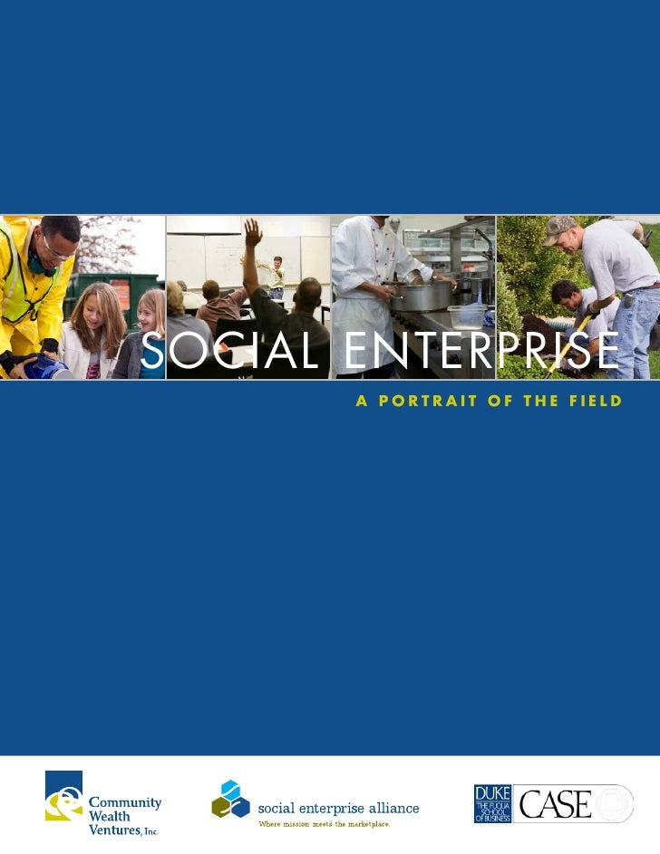 SOCIAL ENTERPRISE        A PORTRAIT OF THE FIELD