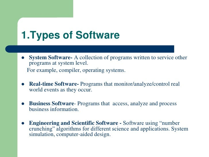 types of custom written software Software of this type ensures that the company can move forward instead of just  automating what it already does, resulting in it being stuck in the same rut.
