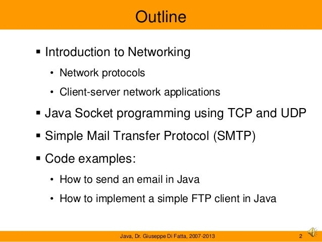 Network protocols and Java programming