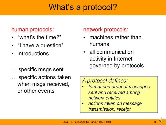 a network protocol In computing, a protocol is a convention or standard that controls or enables the connection, communication, and data transfer between computing endpoints in its simplest form, a protocol.